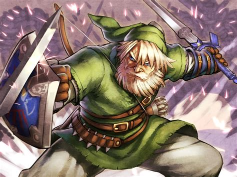 Old Man Link Fanart Gaming And Video Games