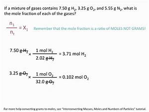 Partial Pressures Of Gases And Mole Fractions