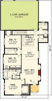 cottage  rear load garage ah architectural designs house plans