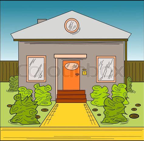 Haus Gezeichnet  Comic, Cartoon Style Vektorgrafik
