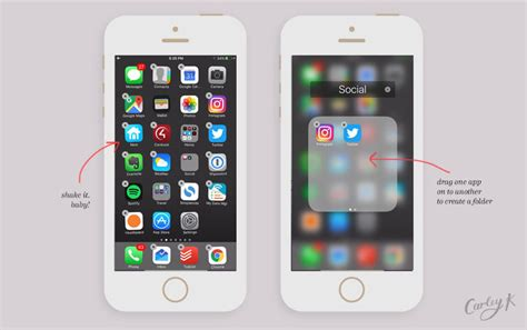 how do you create a folder on iphone how i organize my iphone apps plus tips for you carley k
