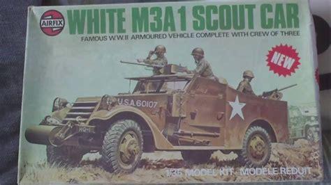 Review, Vintage 1975 Airfix 135 White M3a1 Scout Car