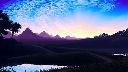 Pixel Landscape Wallpapers Digital Bit Artist 4k