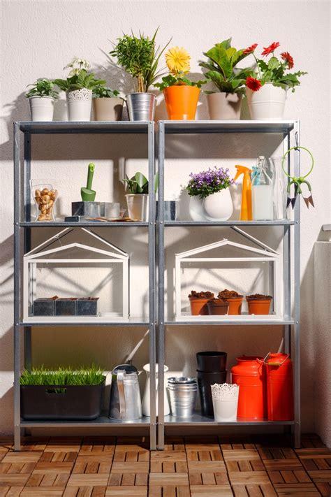 hyllis shelving unit aranjează ți florile și organizează ustensilele de grădinărit pe etajera metalica hyllis pentru