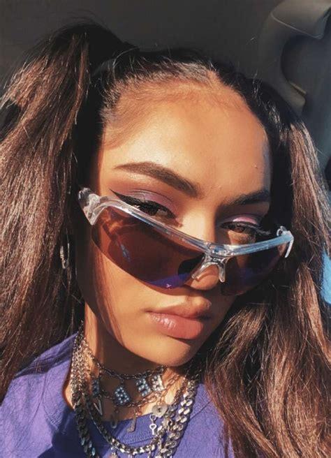 pin  rennikvt  tiktokers   square sunglasses women greggs famous girls
