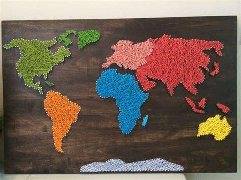 world map string art  craftedontheplains  etsy