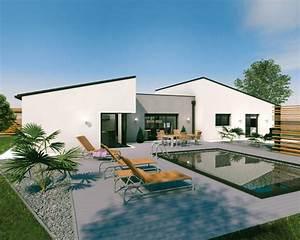 une maison originale de plain pied detail du plan de une With amenagement petit jardin exterieur 3 amenagement exterieur dune habitation familiale
