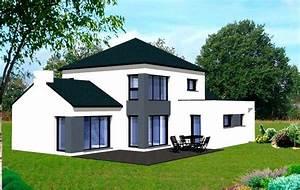 Plan Maison Contemporaine Toit Plat : beau modele maison moderne plan de maison moderne gratuit a telecharger pdf ~ Nature-et-papiers.com Idées de Décoration