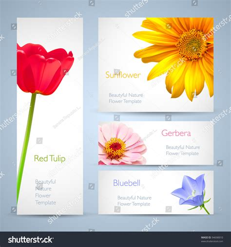 Azuzena Flower Template by Spring Flowers Invitation Brochure Template Card Layout