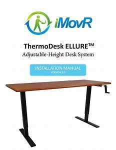 Thermodesk Ellure Manual Height Adjustable Desk