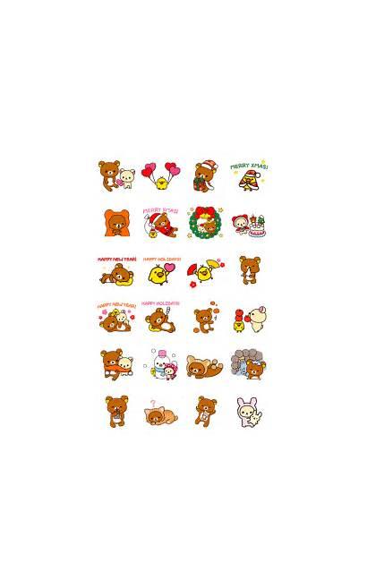 Stickers Rilakkuma Sticker Winter Line Animated Kitty
