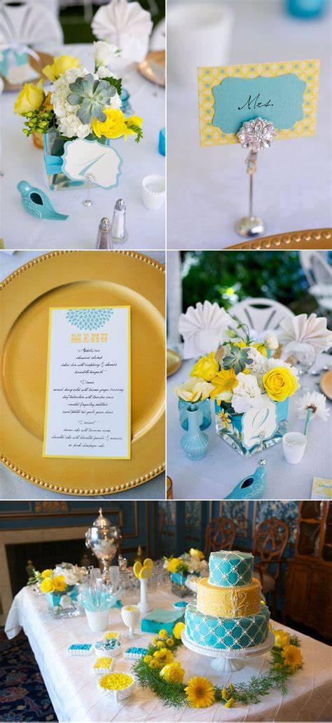 blue yellow birthday party images  pinterest