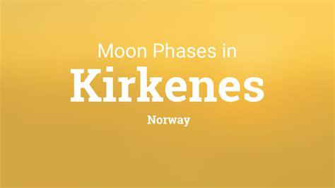 moon phases  lunar calendar  kirkenes norway