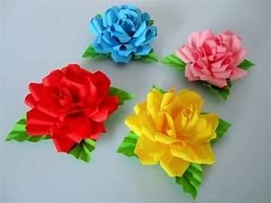 Rosen Aus Papier : basteln mit papier rosen diy blumen basteln mit kindern origami rose geschenke selber machen ~ Frokenaadalensverden.com Haus und Dekorationen