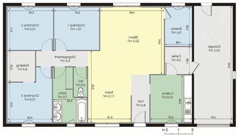 plan maison plain pied gratuit 4 chambres