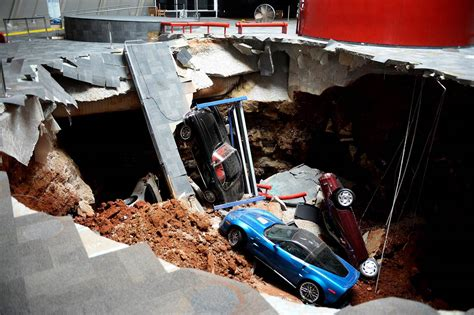 corvette museum sinkhole dirt corvette museum commemorates 2014 sinkhole with new