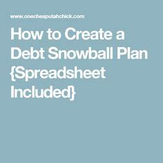 How To Create A Plan To Pay Debt The Budget Free Debt Snowball Spreadsheet Calculator To Pay
