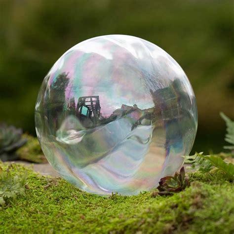 Realistic Giant Glass Bubble Garden Ornament   The Green Head