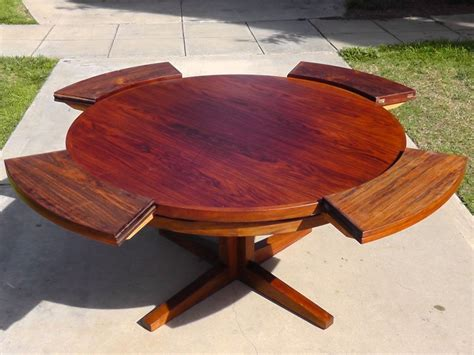 round wooden outdoor table expandable round modern outdoor dining table for patio