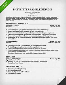 Babysitter resume example writing guide resume genius for Babysitter resume sample