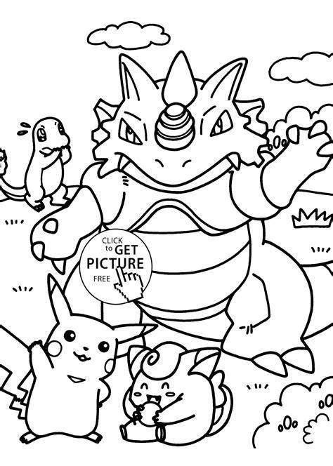 pokemon dragon manga coloring pages  kids printable