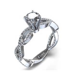 in engagement ring infinity twist engagement ring in 14k white gold