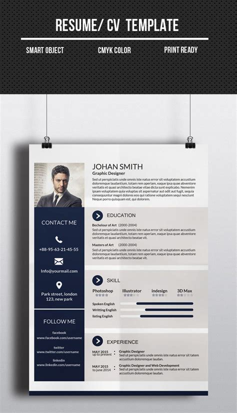 Corporate Graphic Designer Resume by Modern Cv Resume Templates With Cover Letter Design Graphic Design Junction
