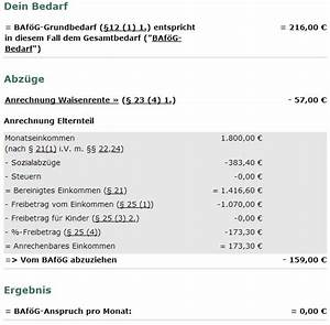 Schüler Bafög Berechnen : sch ler baf g mit halbwaisenrente forum ~ Themetempest.com Abrechnung