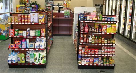 convenience store fixtures  shelving