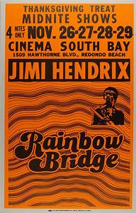 Lot Detail - Jimi Hendrix Rainbow Bridge Cardboard Movie ...