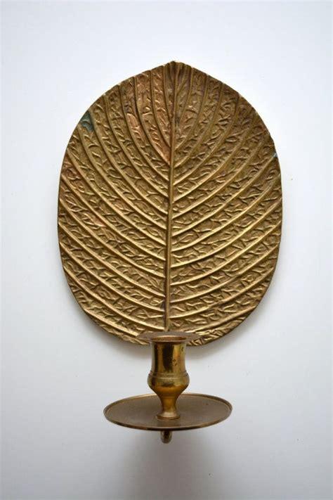vintage brass leaf sconce candle holder india on etsy 17