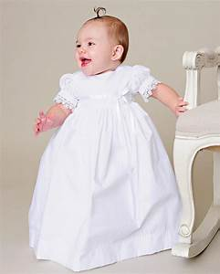 Simple Baptism Baby Clothing Dress Floor Length White Cotton Lace First Communion Infant Girls ...