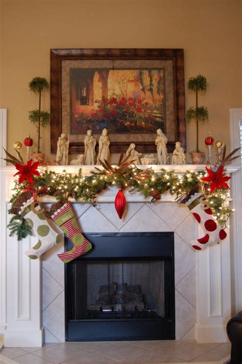 christmas fireplace decoration ideas   feed