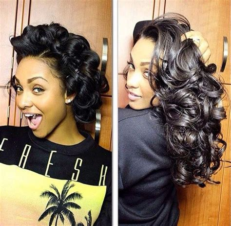 Pin curls to die for Natural hair styles Long hair