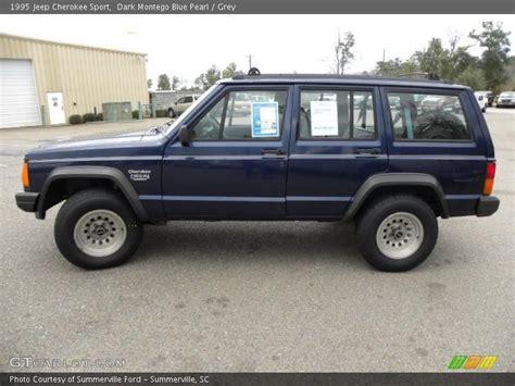 blue grey jeep cherokee 1995 jeep cherokee sport in dark montego blue pearl photo
