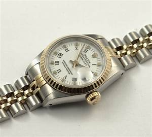 ROLEX OYSTER PERPETUAL DATEJUST DAMENUHR STAHLGOLD 18k