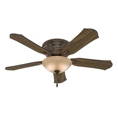 home depot flush mount ceiling fan hunter viente 52 in indoor roman bronze flushmount
