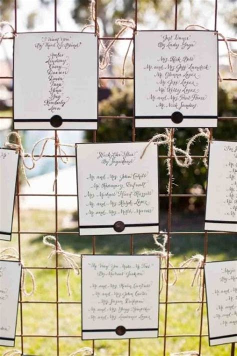 unique wedding seating charts ideas weddingomania