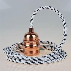 E27 Fassung Metall : textilkabel schwarz wei mit e27 fassung metall kupfer kaufen 26 95 ~ Orissabook.com Haus und Dekorationen