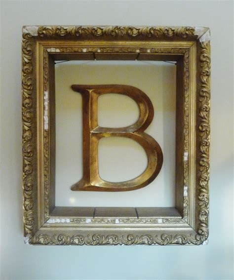 hang lettermonogram  wall  empty picture frame    full     wide