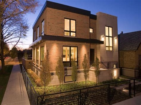 colour scheme warm lights black windows  light render exterior house colors modern