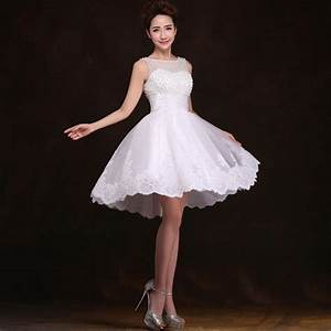 New 2016 White Short Wedding Dresses The Bride Sexy Lace
