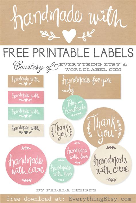 printable label best of free printable tags labels for handmade gifts oh you crafty gal