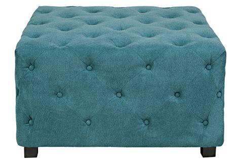 large white tufted ottoman duncan large tufted teal cube ottoman at gardner white