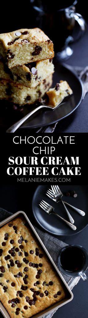 Chocolate chip sour cream coffee cake. Chocolate Chip Sour Cream Coffee Cake - Melanie Makes