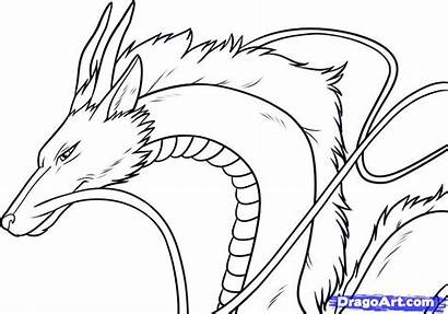 Away Spirited Coloring Anime Haku Dragoart Draw