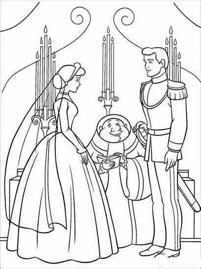 Cinderella Coloring Pages Disney