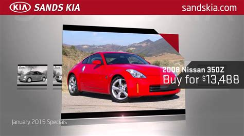 Sands Kia by Sands Kia Pre Owned Specials January 2015 Usd