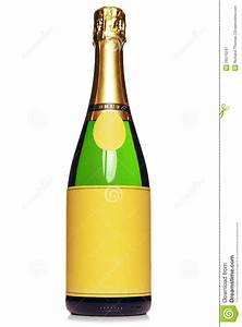 champagne bottle isolated on white stock image image With champagne bottle labels free
