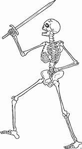 Laufendes Skelett Ausmalbild Malvorlage Phantasie